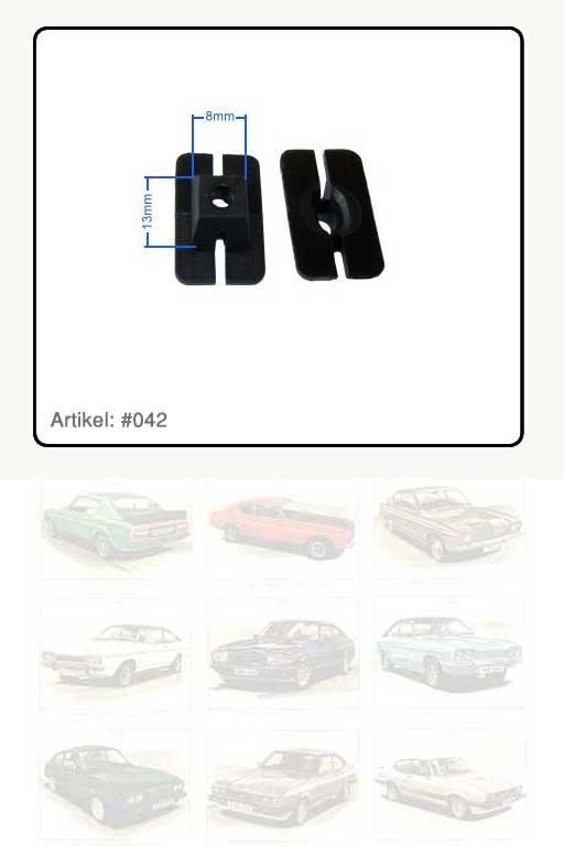 Spezialmutter / Clip, Kunststoff schwarz