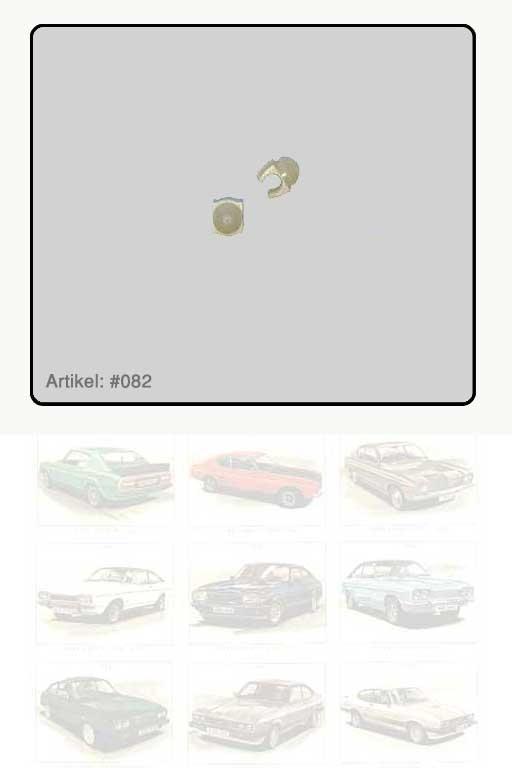 Kabelhalter Zündkabel weiß 1-fach