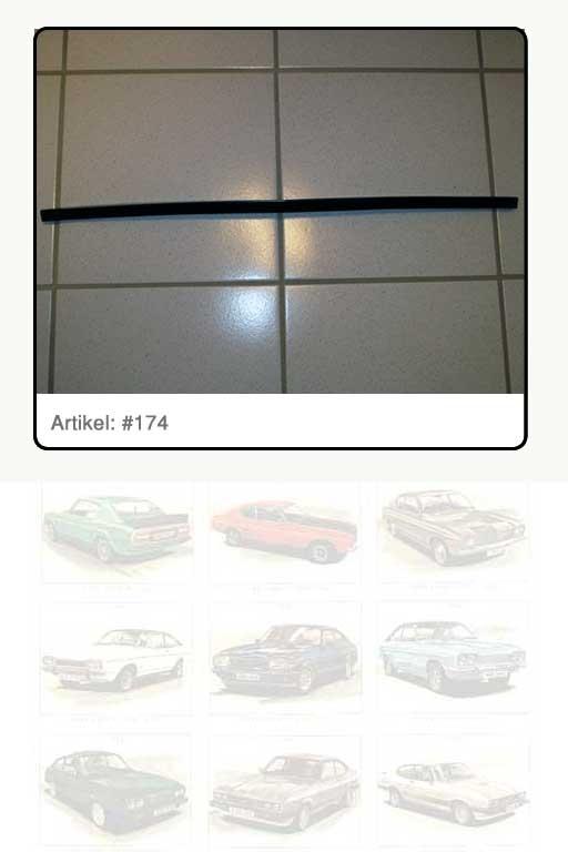 Zierleiste - Motorhaube Kunststoff, schwarz