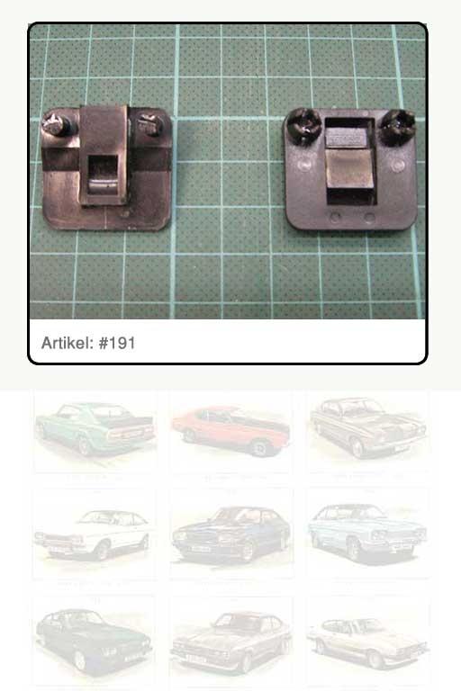 Clip / Befestigungsklammer, Kunststoff schwarz