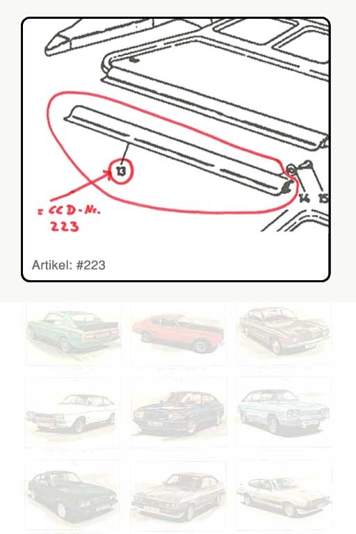Dämpfungsstreifen an Kante Abdeckung-Kofferraum