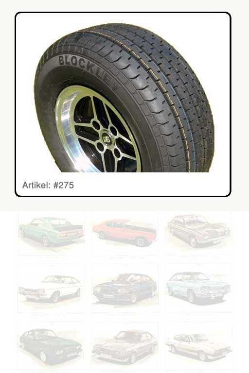 Reifen 235 / 60 / VR 13  94 V, Fabrikat BLOCKLEY