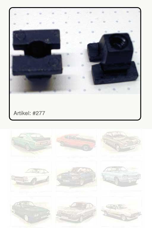 Spreizclip, Kunststoff schwarz  für Stellschraube Scheinwerferhaltering in Scheinwerfergrundplatte Capri III
