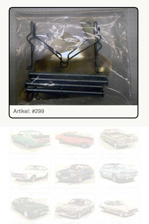 Bremsklötze-Einbausatz vorne Capri II - III